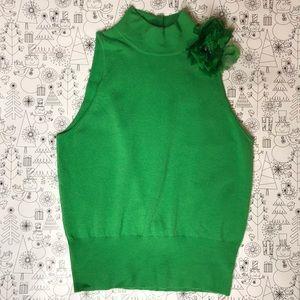 [Saks Fifth Avenue] Sleeveless Cashmere Sweater